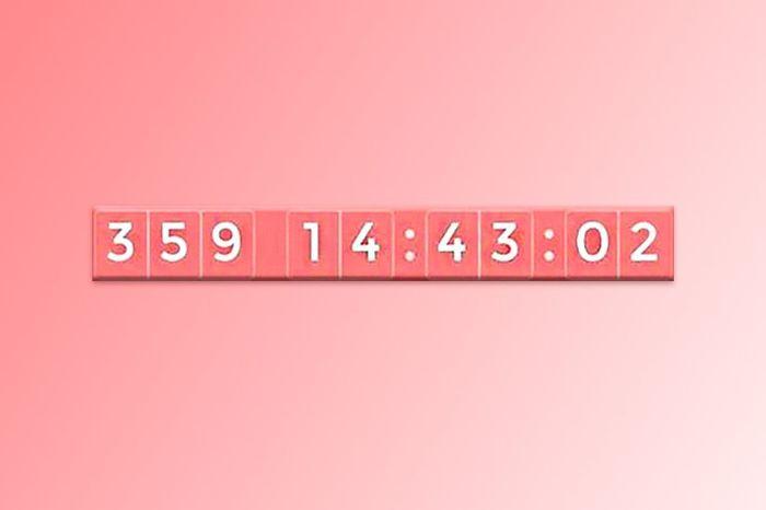Écris seulement le nombre de jours qu'il reste à ton compteur ! 1