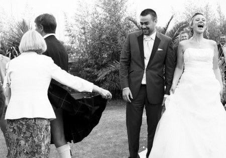 Craquage de la mariée!