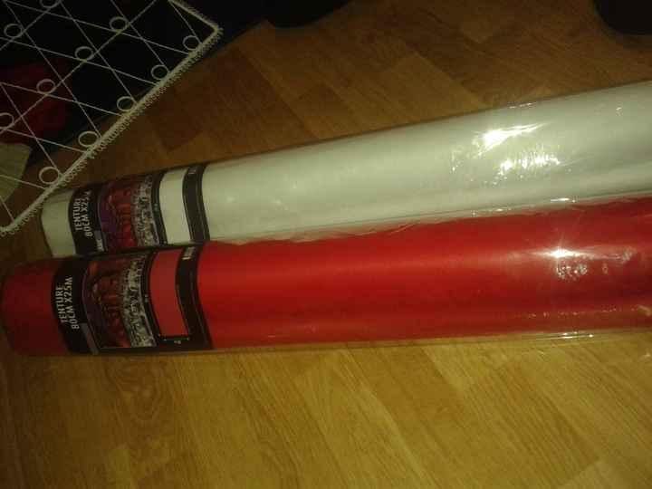 Tenture Rouge et blanche