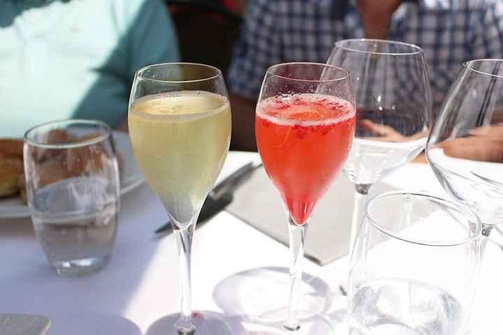 Soupe de champagne citron VS fruits rouges