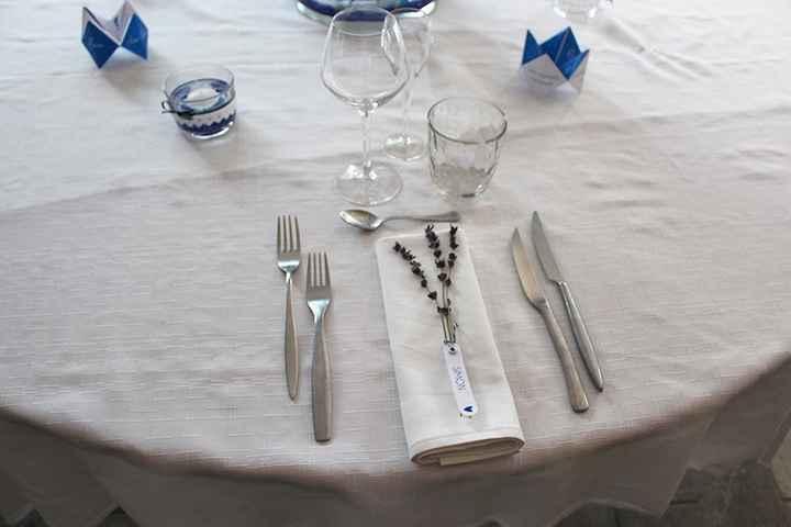 Essai table - marque place