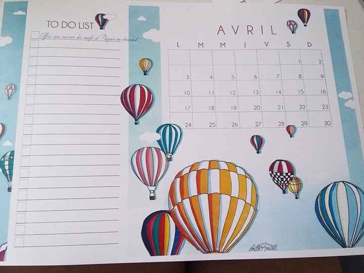 calendrier avril jeu des 12 mois