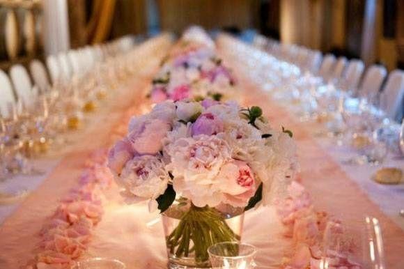 Inspiration mariage thème couleur bleue marine blanc et rose poudré - 7