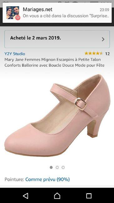 Chaussures mariée rose poudrée 8