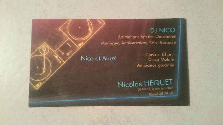 Carte DJ
