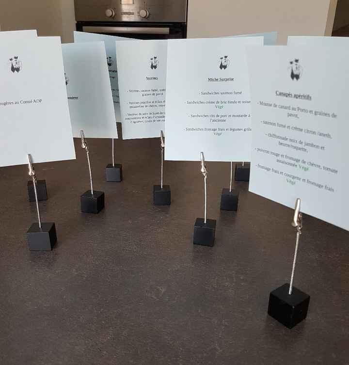 Le menu du cocktail - 1