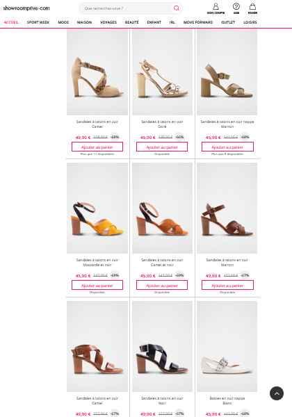 Chaussure sur showroom privée - 1