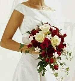 10 bouquets de mariée rouges - 1