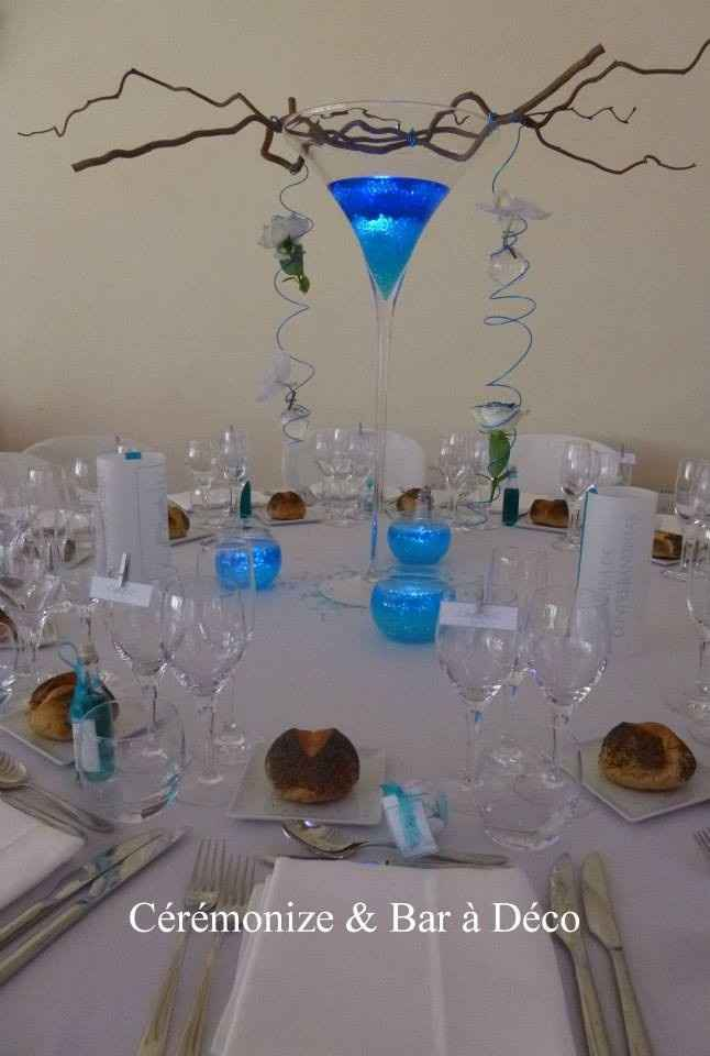 table blanc bleu