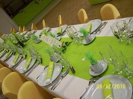 Decoration Table Gris Vert Anis