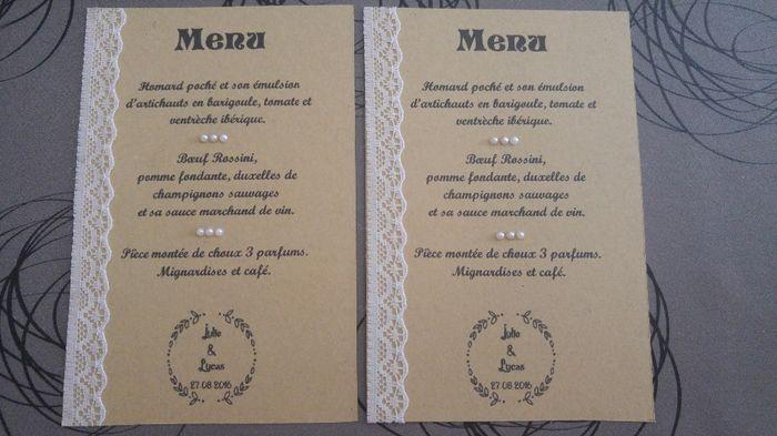 Mes menus diy