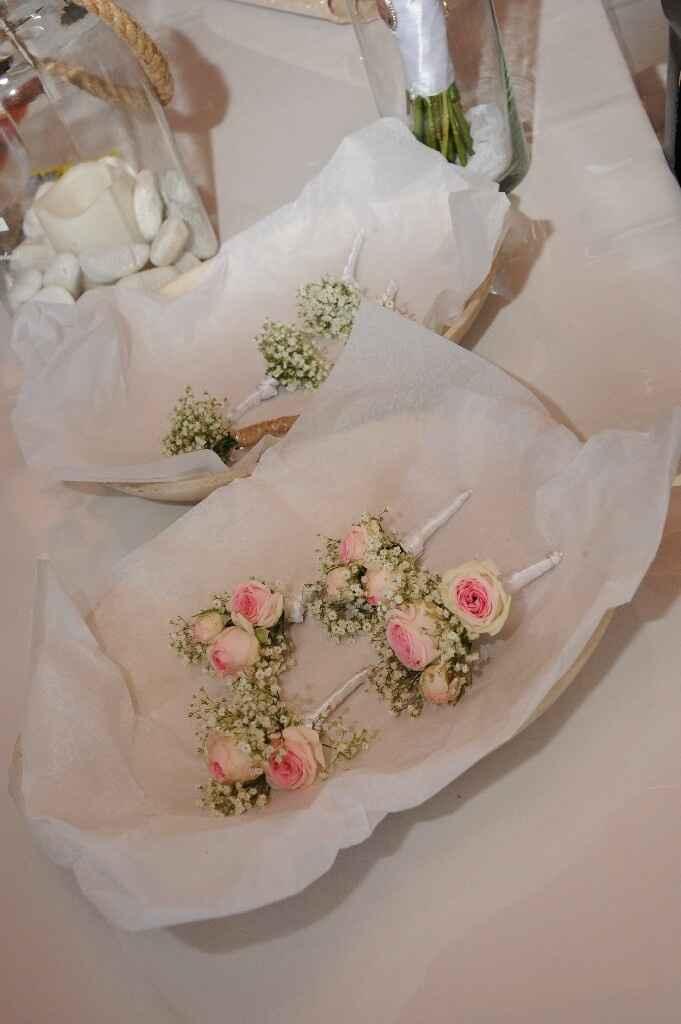 Bouquet gypsophile ruban - 5