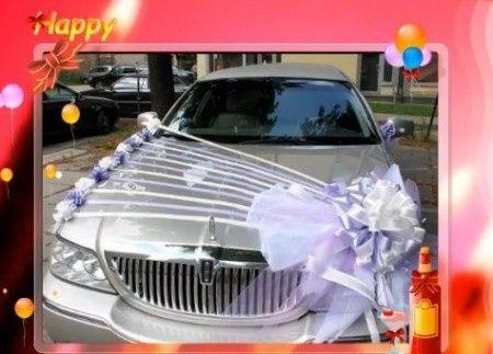 decoration voiture mariage sans fleur