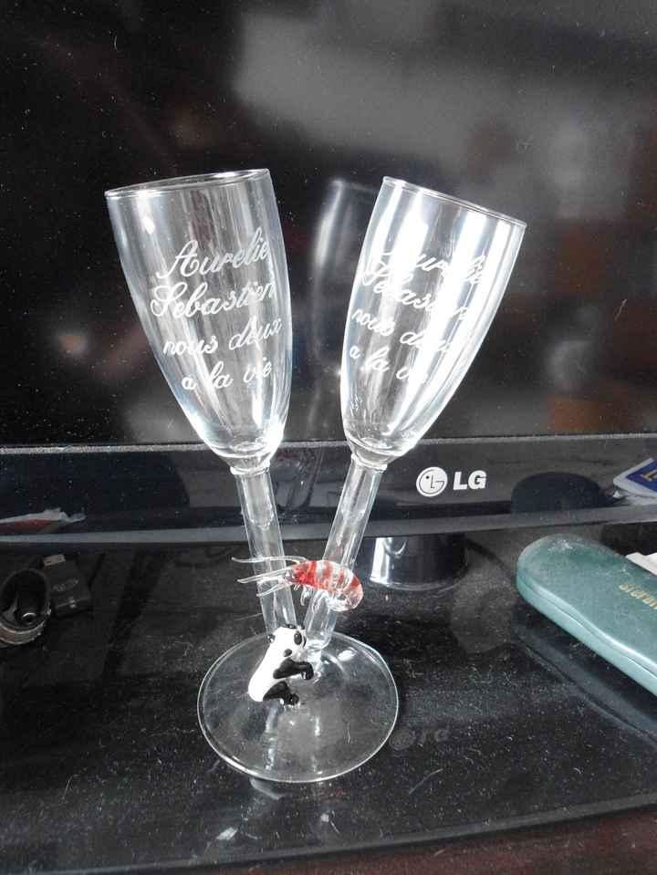 Nos flûtes à Champagne personnalisées