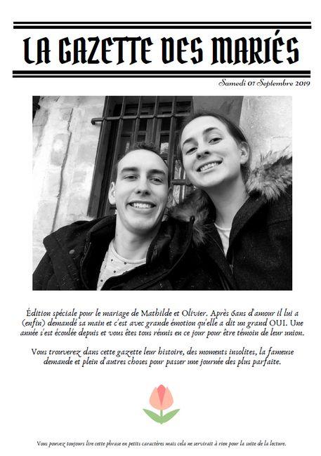 Gazette des mariés 1