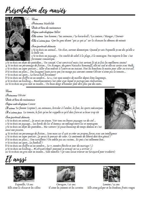 Gazette des mariés 2