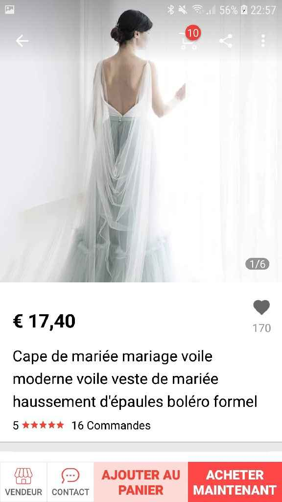 Cape mariée - 1