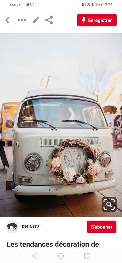 Van en voiture de mariés - 1