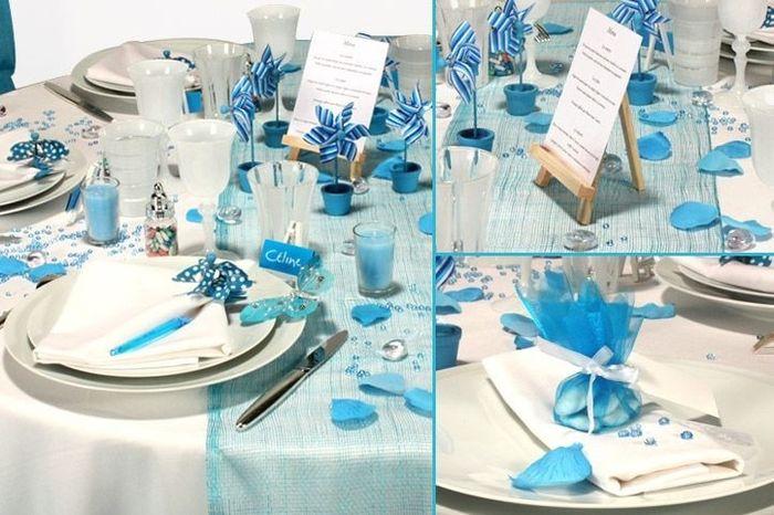 Inspi deco mariage bleu d coration forum - Deco de table bleu ...