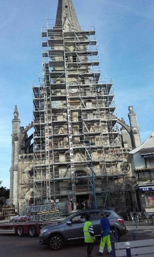 Eglise cite carcassonne en travaux - 1