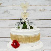 topper cake husky