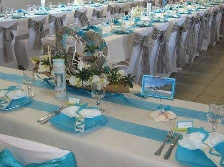 Mariage th me des ile turquoise et sable blanc d coration forum - Deco jardin pour mariage vitry sur seine ...