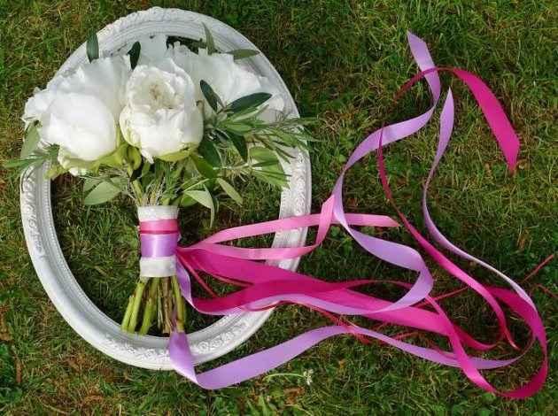 lancer ruban bouquet