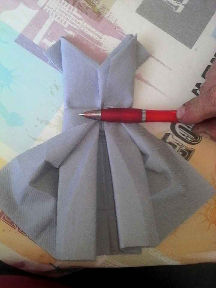 Premier essai pliage serviette - 2