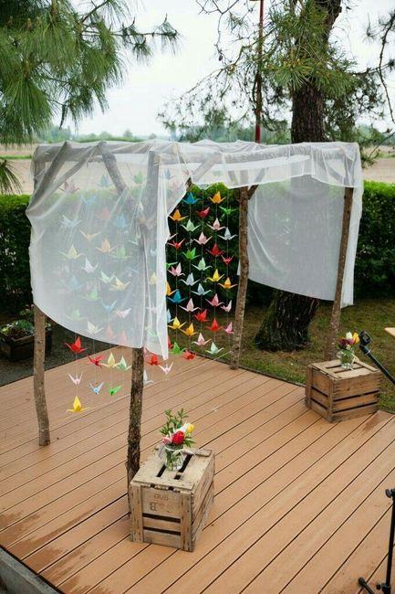 guirlande rideau origami d coration forum. Black Bedroom Furniture Sets. Home Design Ideas