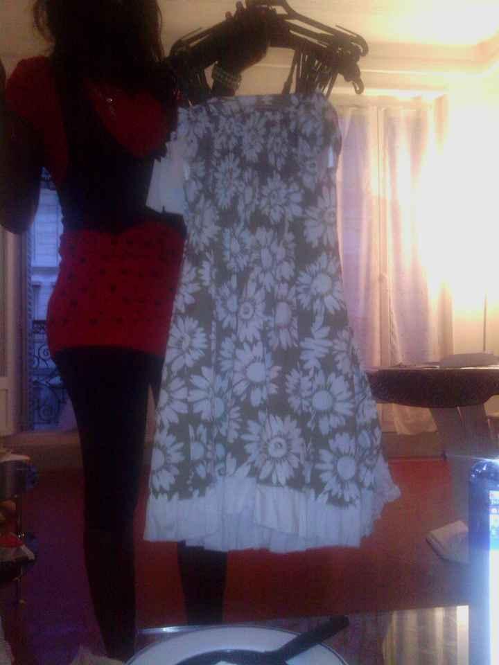 Photos de la robe des demoiselles d'honneur
