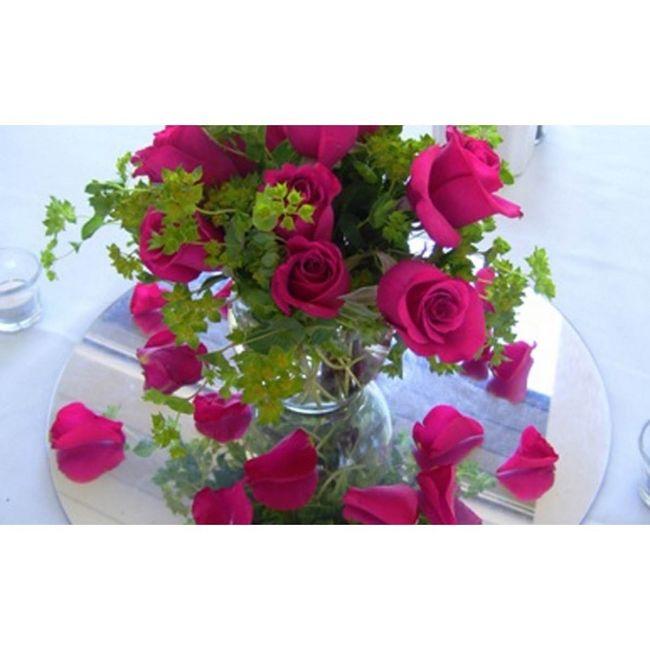 Conseil n 56 centre de table fleurs et miroir rond d coration forum - Centre de table avec miroir ...