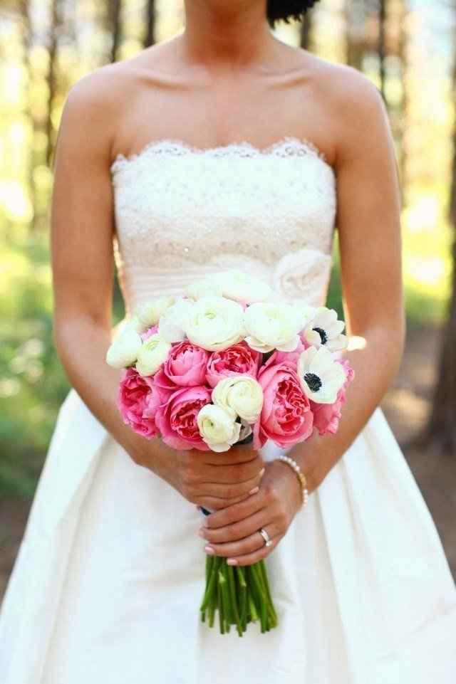 Couleurs bouquet robe Champagne dentelle ivoire 5