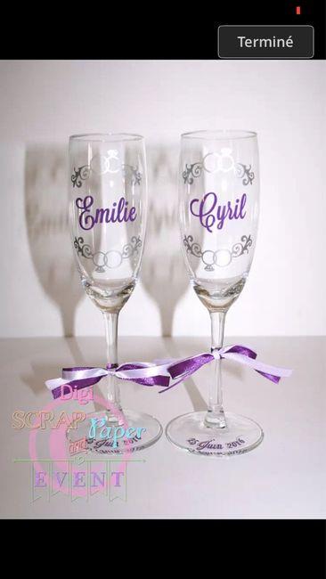 Flûtes à champagne pour les mariés - 1