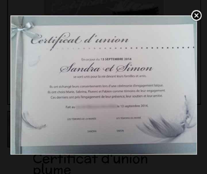 Registre de cérémonie laïque - 1