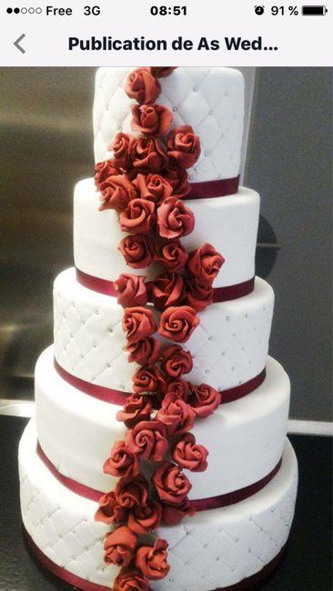 Mon wedding cake sera à _____ - 1