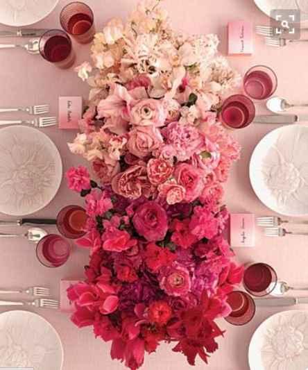 Fleur table d'honneur