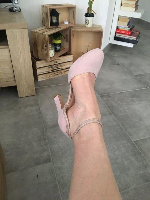 Chaussures mariée rose poudrée 2
