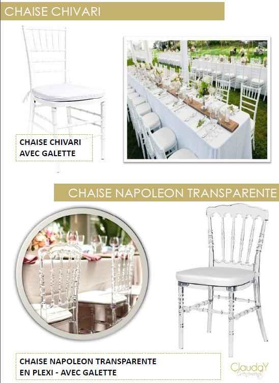 Chaises Clauday evenement
