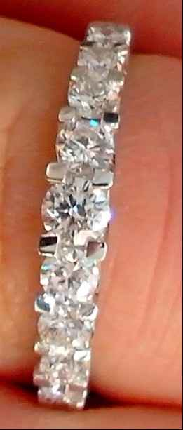 alliance diamants sertie griffes