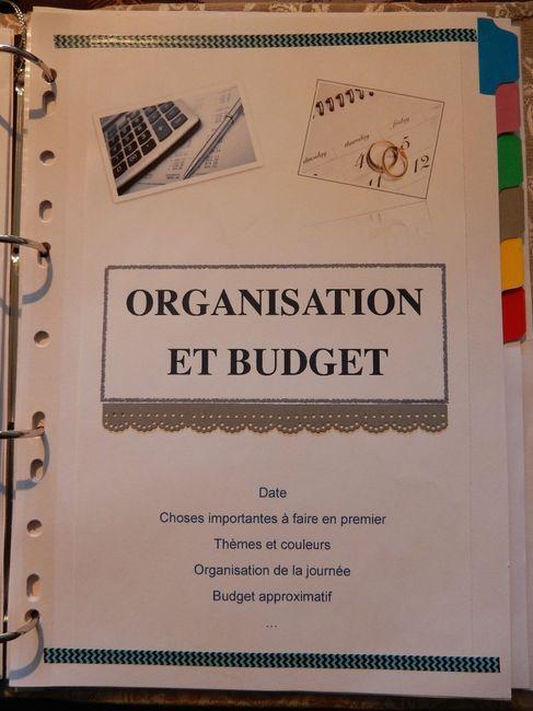 Classeur organisation et budget