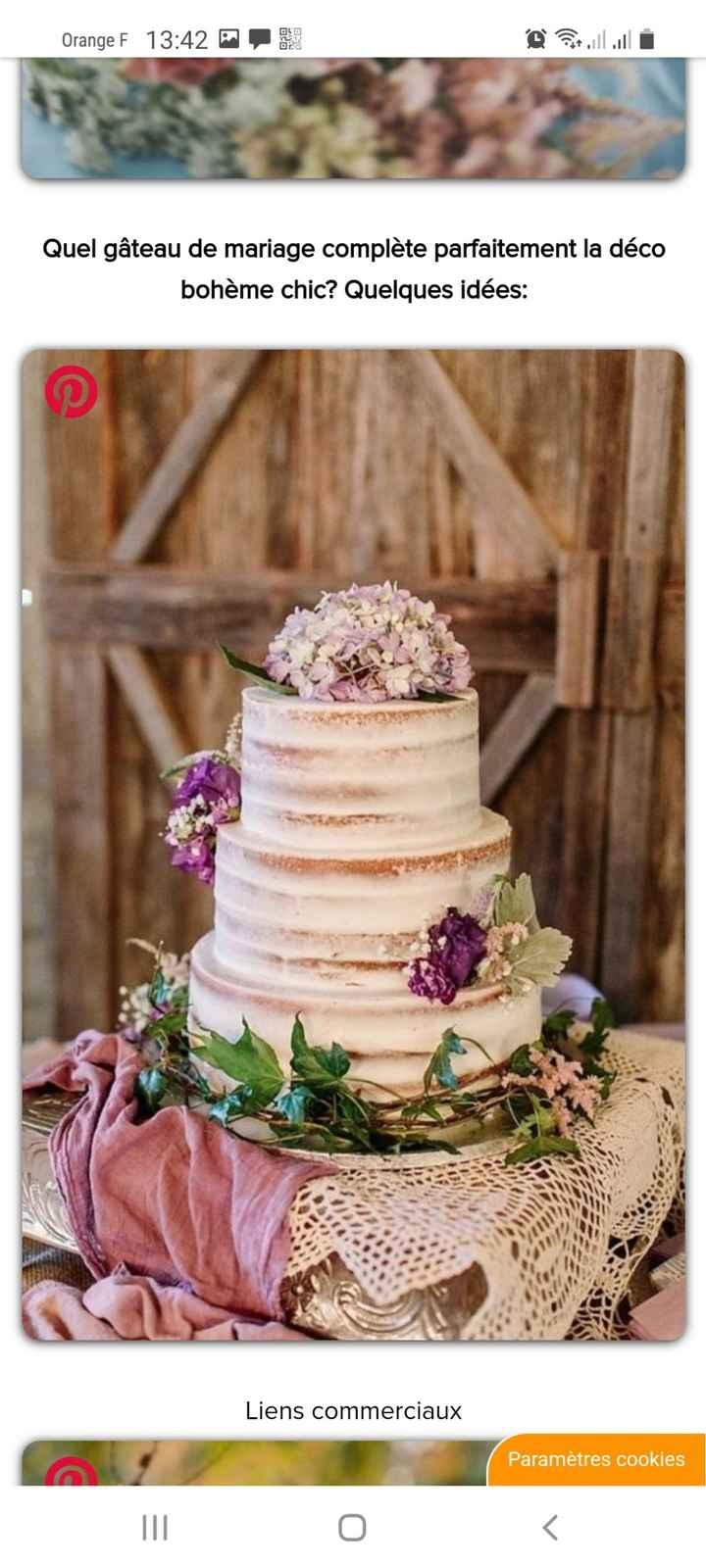 Clair/foncé : Le Wedding cake - 1