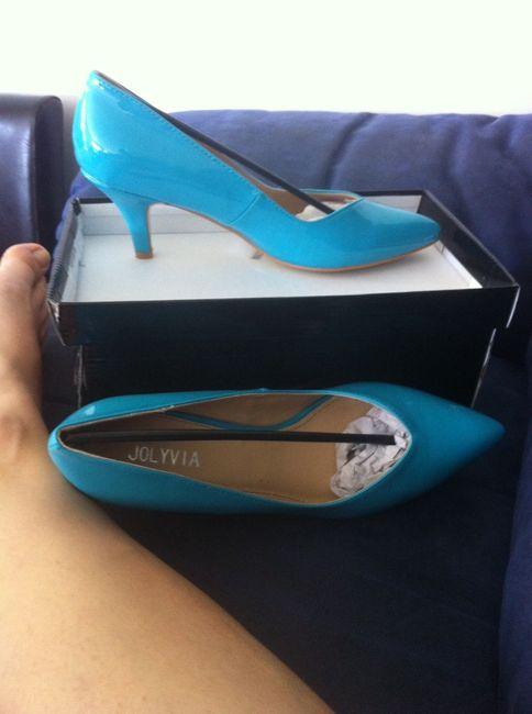 Chaussures turquoises arrivées - 1