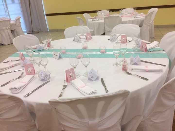 Table des mariés sans les fleurs