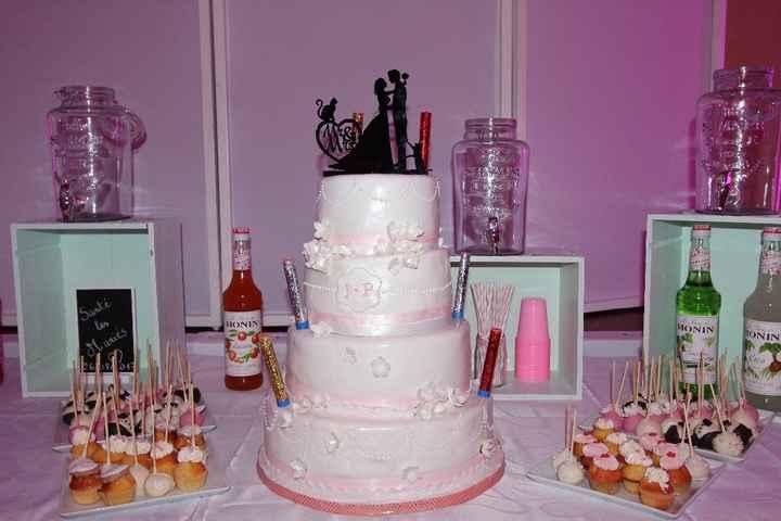 Notre gâteau et coin limonade