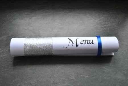 Notre menu roulé