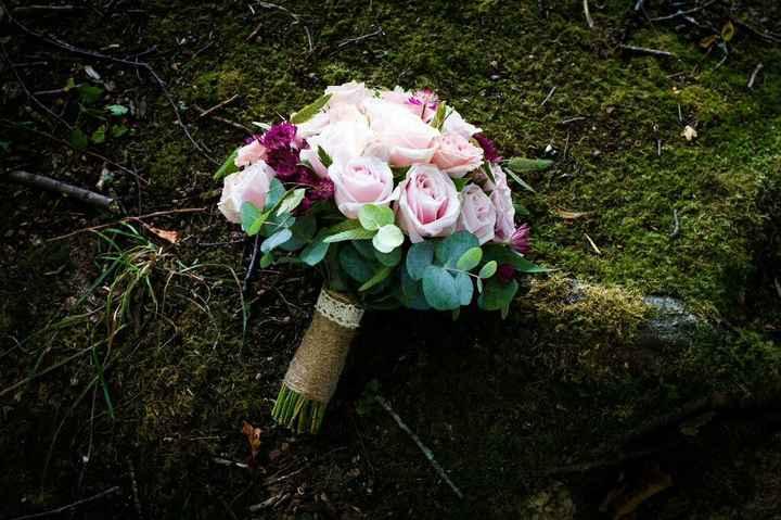 Couronne fleurie et bouquet bohème - 4