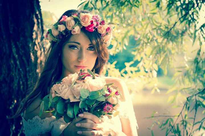Couronne fleurie et bouquet bohème - 5