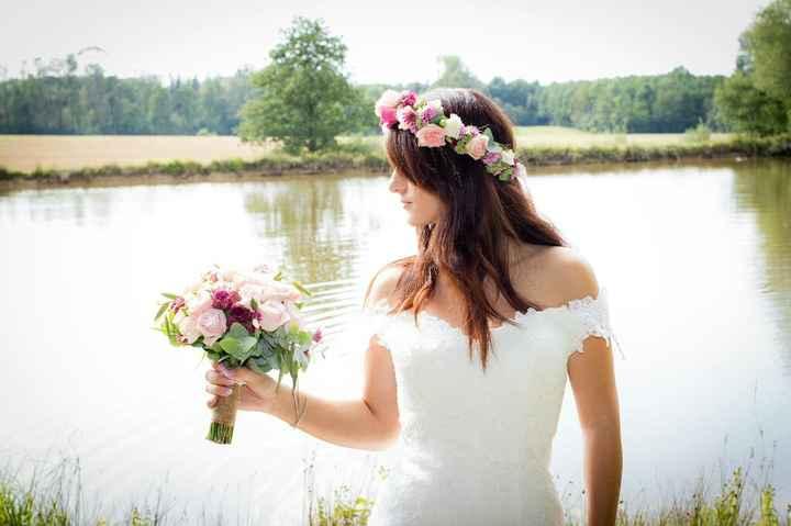 Couronne fleurie et bouquet bohème - 6