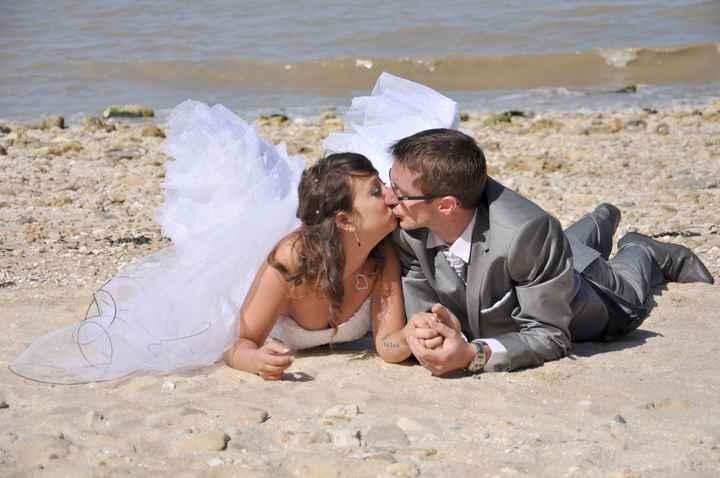 photo couple a la plage