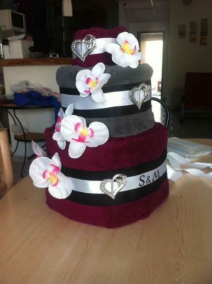 serviettes cake